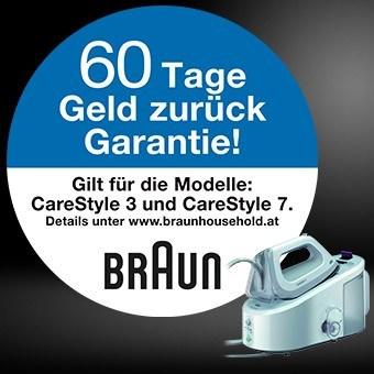 60 Tage unverbindlich testen - Braun Dampfbügelstationen CareStyle 3 und CareStyle 7