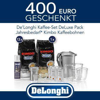 De´Longhi schenkt Kaffeezubehör und einen Jahresbedarf Kaffeebohnen im Gesamtwert von 400 Euro