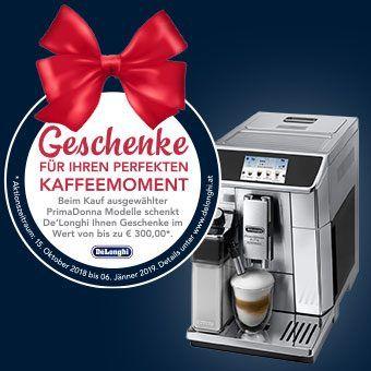 Sichern Sie sich jetzt Ihr exklusives Geschenk beim Kauf eines Kaffeevollautomaten aus der Serie PrimaDonna*.
