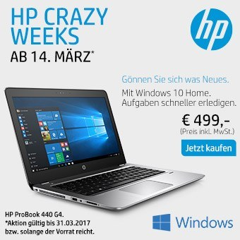 Jetzt HP Crazy Weeks