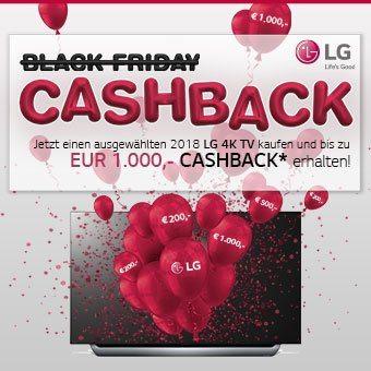 Jetzt einen ausgewähtlen 2018 LG 4K TV kaufen und bis zu EUR 1.000,- CASHBACK erhalten!