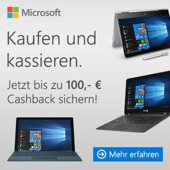 Windows Cashback Aktion