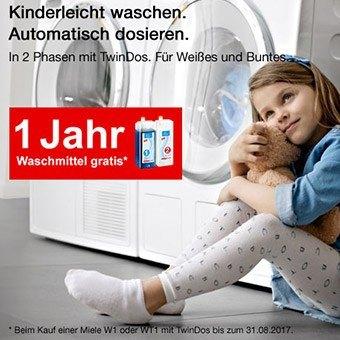 Miele TwinDows 1 Jahr gratis waschen
