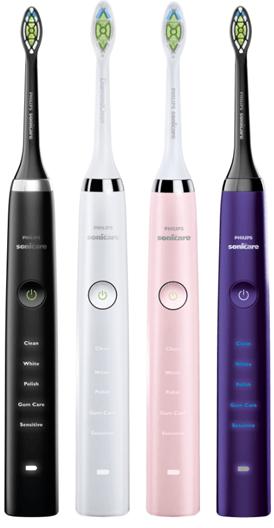 Vier verschiedene Philips Sonicare Bürstenköpfe gratis dazu