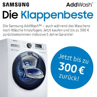 Samsung Klappenbeste - Jetzt bis zu 300 € zurück!