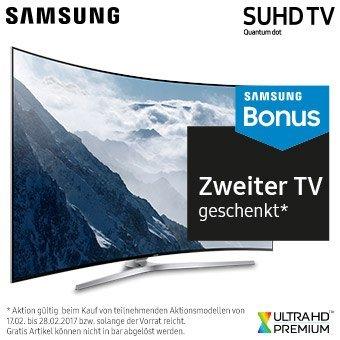 Samsung SUHD TV Bonus - Jetzt mit zweitem TV als Geschenk