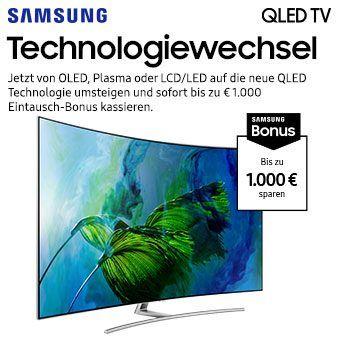 Bis zu € 1000 Eintauschbonus beim Kauf eines Samsung QLED TVs