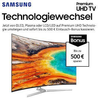 Bis zu € 500 Eintauschbonus beim Kauf eines Samsung Premium UHD TVs
