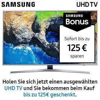 Jetzt bis zu 125 Euro Sofortrabatt beim Kauf ausgewählter Samsung TV Modelle!