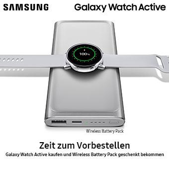 Galaxy Watch Active kaufen und Wireless Battery Pack geschenkt bekommen