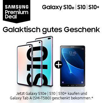 Jetzt Galaxy S10e | S10 | S10+ kaufen und Galaxy Tab A (2016) geschenkt bekommen.*