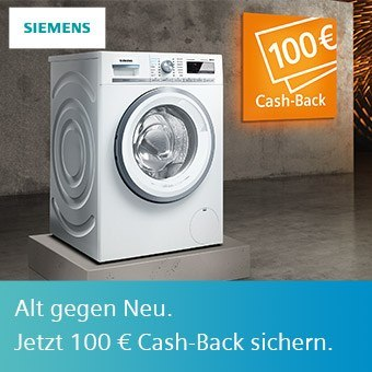 100 Euro Cash-Back auf eines der Extraklasse Aktions-Geräte sichern.