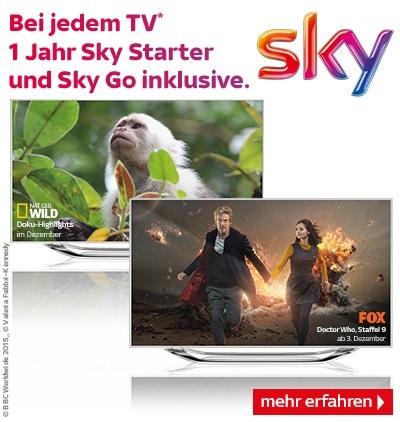 Jetzt bei jedem TV 1 Jahr Sky Starter inklusive
