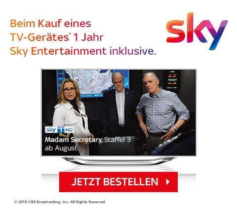 Jetzt bei jedem TV 1 Jahr Sky Entertainment inklusive