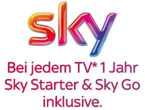 Jetzt bei jedem TV 1 Jahr Sky Starter inklusive*