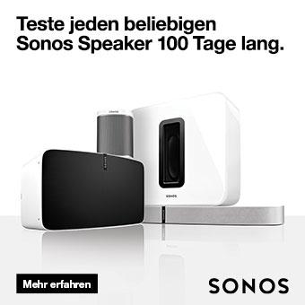 Teste jeden beliebigen Sonos Speaker 100 Tage lang.