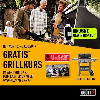 Weber - Jetzt gratis Grillkurs sichern!