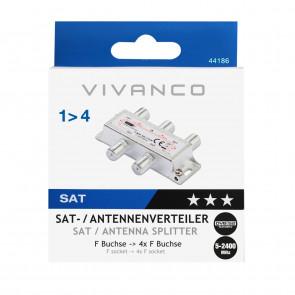 VIVANCO SAT-/Universal-Antennenverteiler
