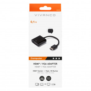 VIVANCO HDMI - VGA-Adapter schwarz
