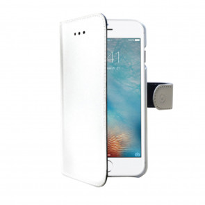 Celly  iPhone 7/8 Wallet Case Weiss