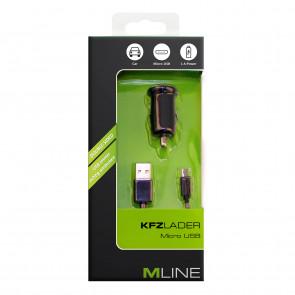 Mline Kfz Lader Micro USB schwarz