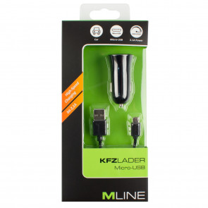 M-LINE KFZ-Lader microUSB 2,1 A