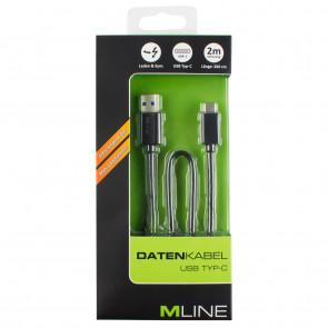 Mline Datenkabel USB A auf USB C 2m