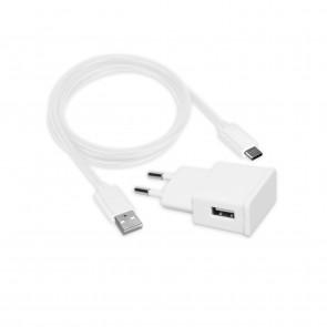 Mline Reiselader USB C 2,1 A Weiß