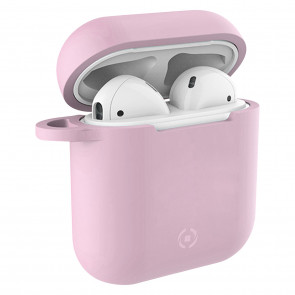 Celly Silikon Case für Airpods rosa